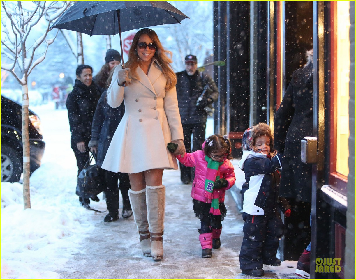 mariah carey snowy aspen shopping with the twins 063015615