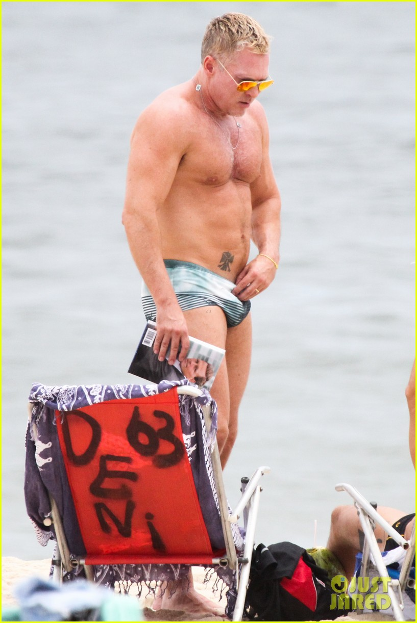 gmas sam champion shirtless buff beach time 04