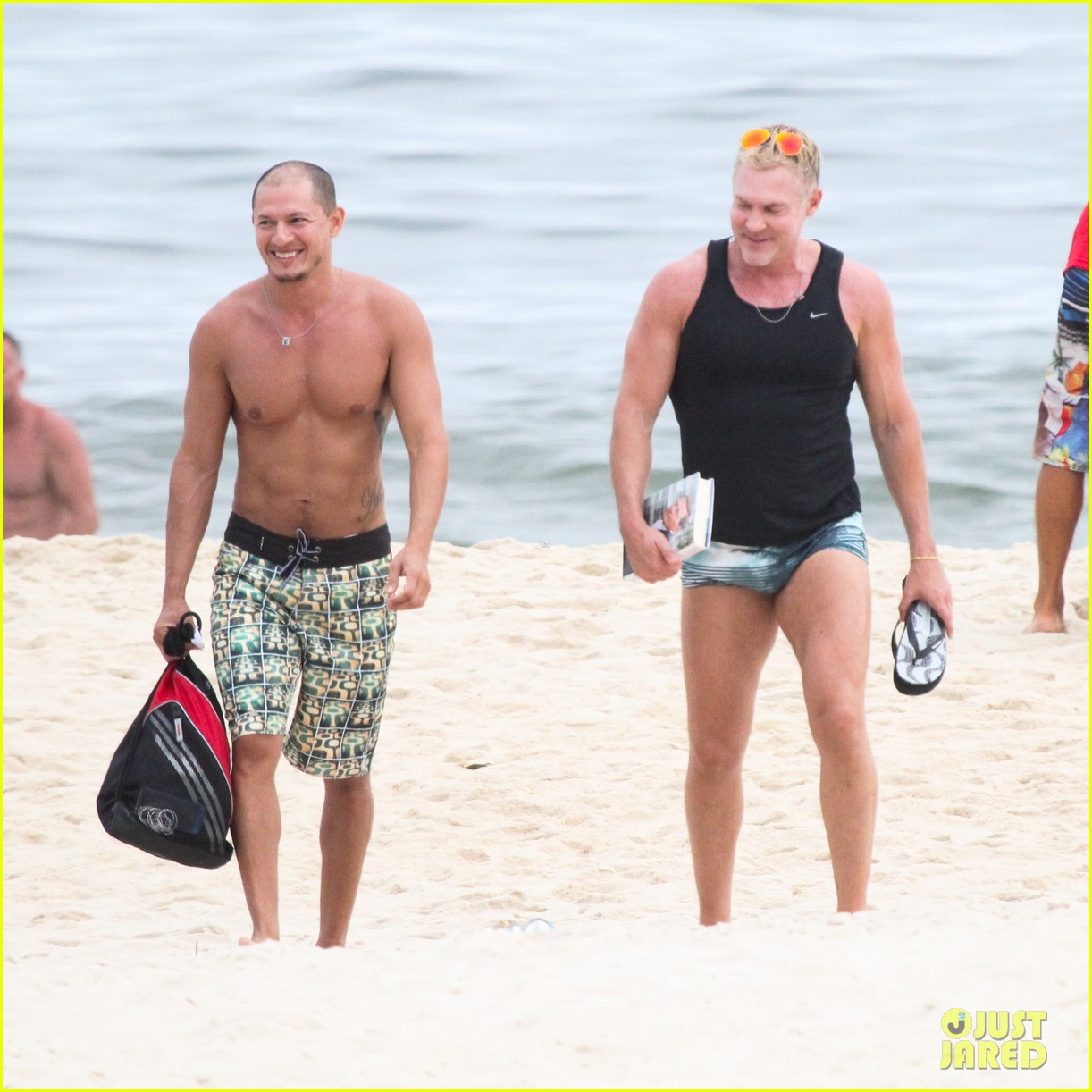 gmas sam champion shirtless buff beach time 07
