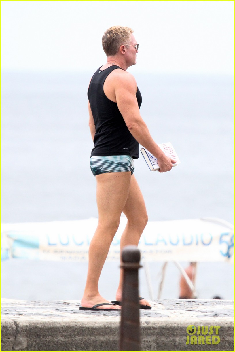 gmas sam champion shirtless buff beach time 093017880