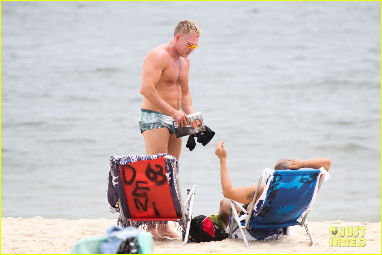 gmas sam champion shirtless buff beach time 24