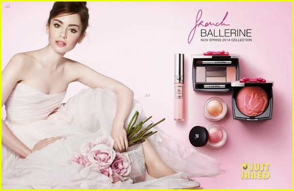 lily collins is a beautiful ballerina for lancome ad campaign 03