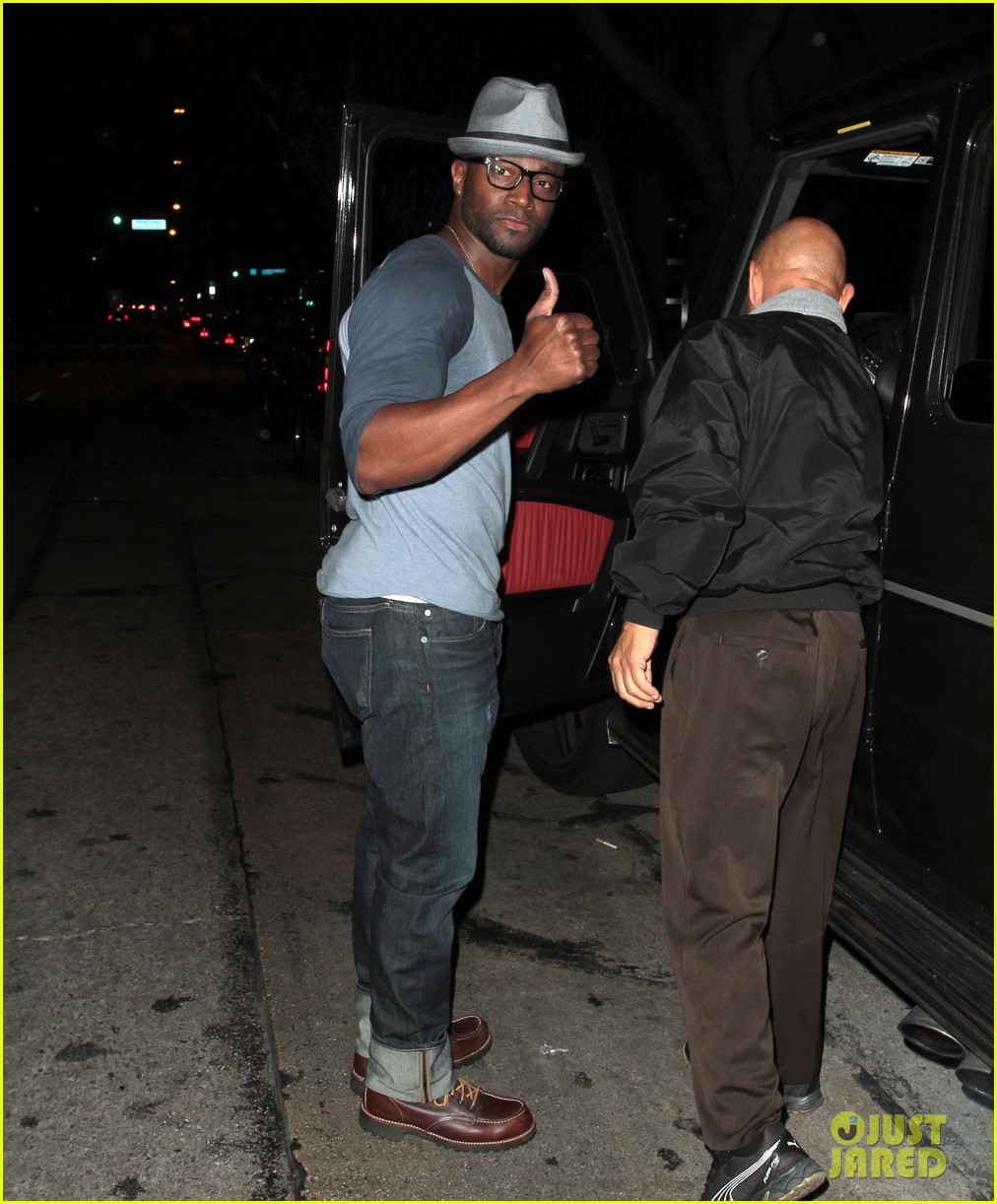 taye diggs sweats it out at post christmas club night 17