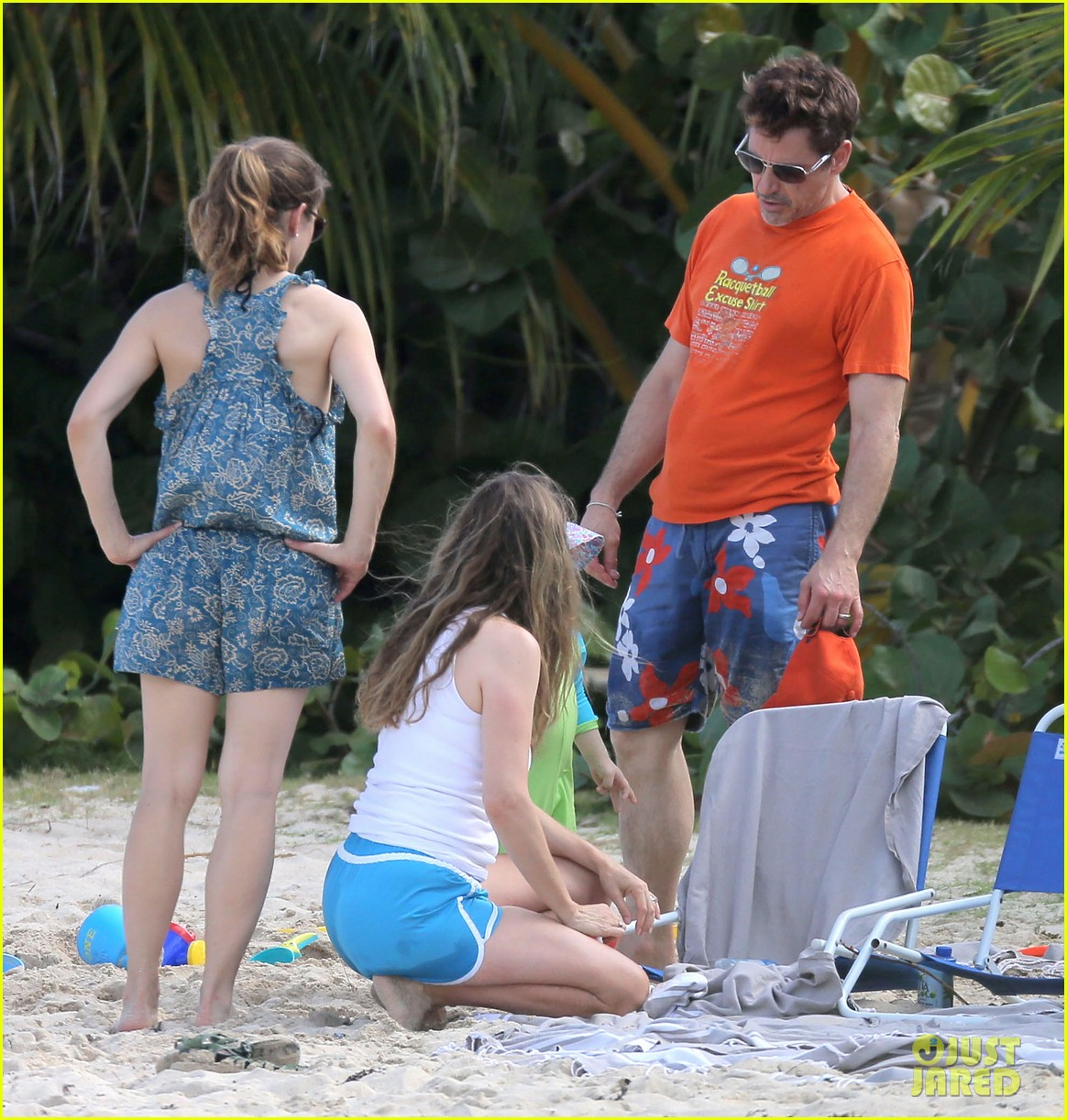 robert downey jr swims shirtless plays with exton in st barts 01