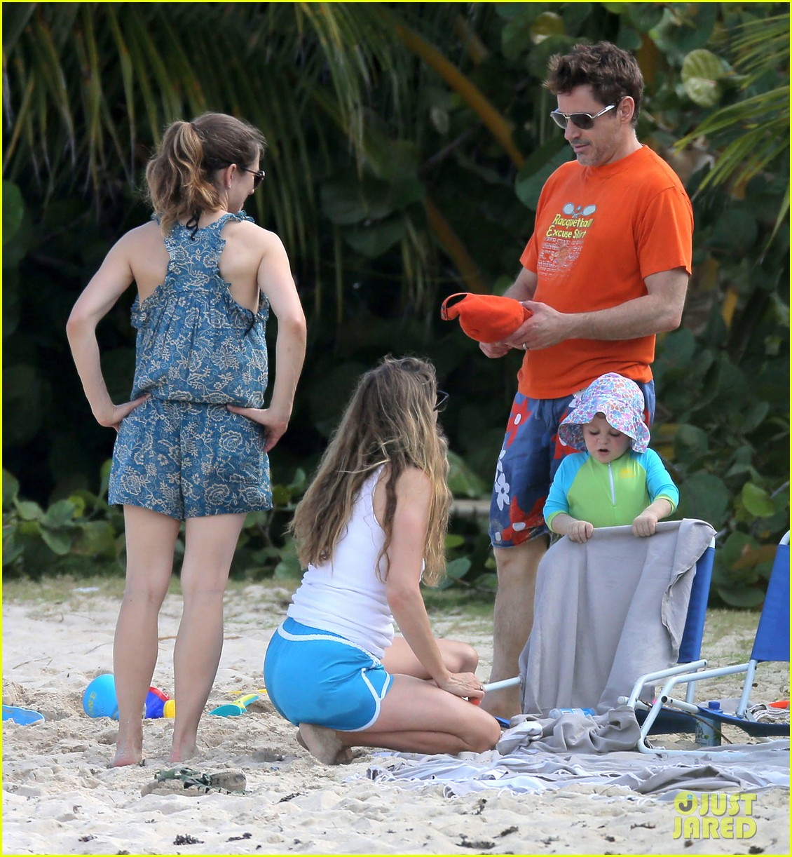 robert downey jr swims shirtless plays with exton in st barts 063019701