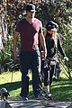 fergie josh duhamel dog walking duo 01