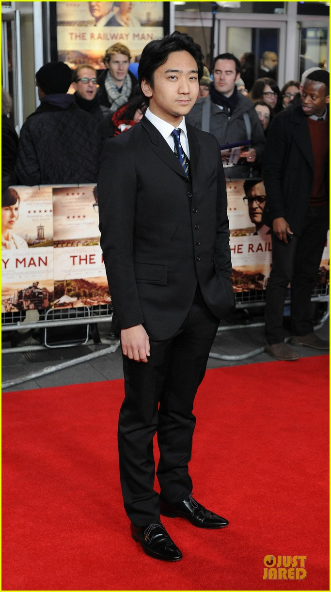 colin firth jeremy irvine railway man london premiere 05