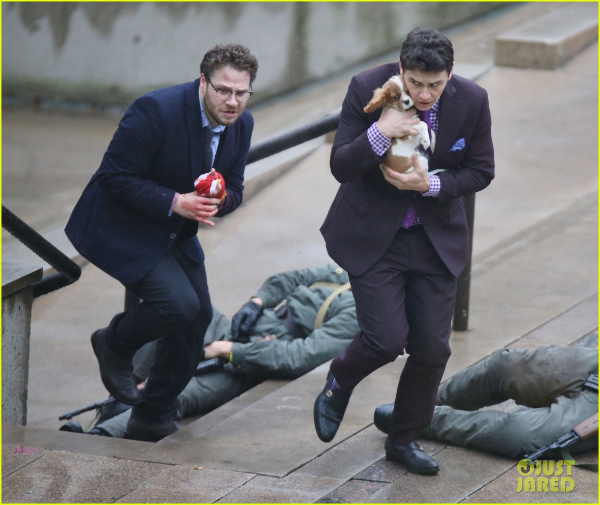 james franco cradles puppy with seth rogen for interview 05