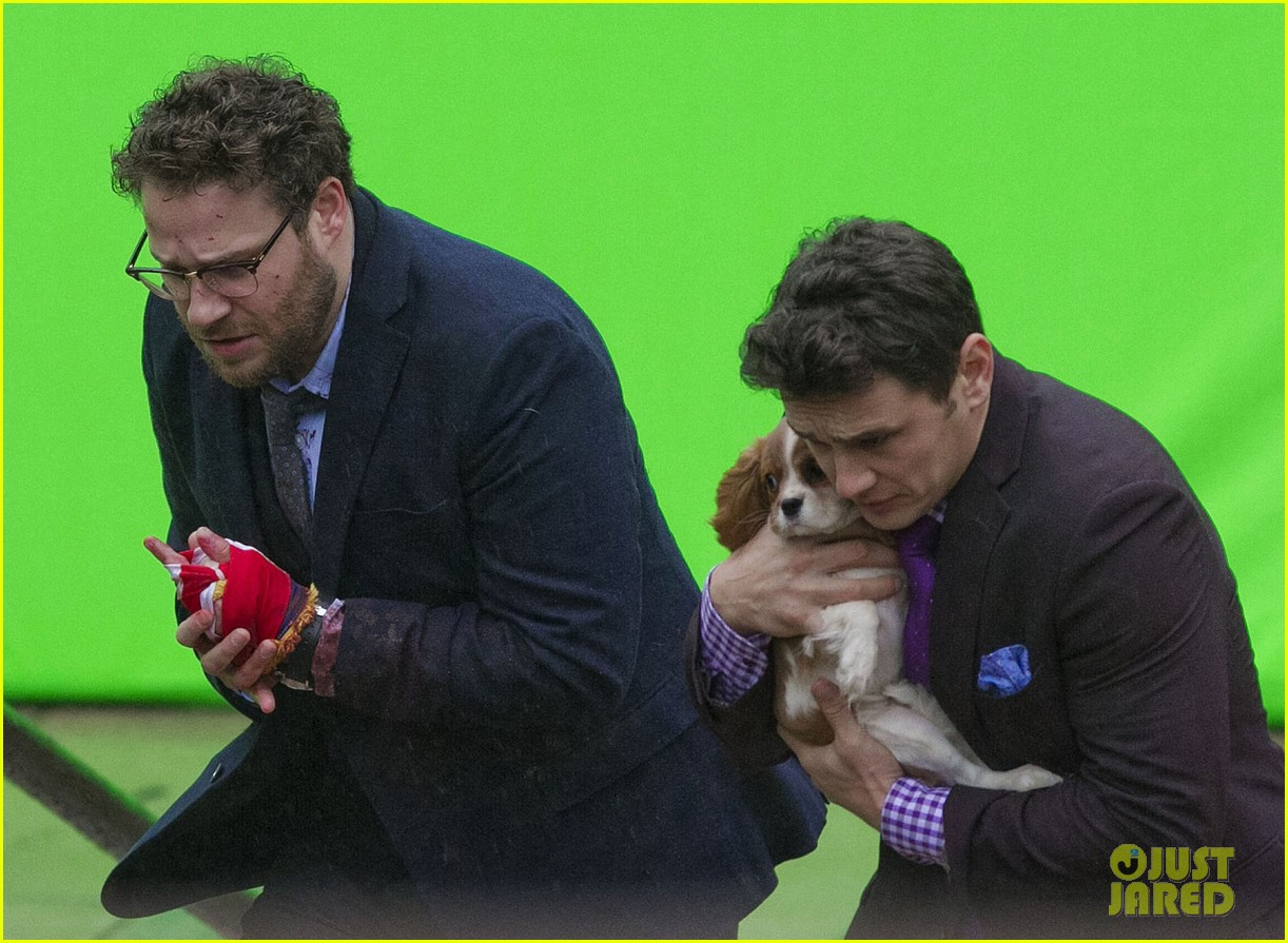 james franco cradles puppy with seth rogen for interview 06