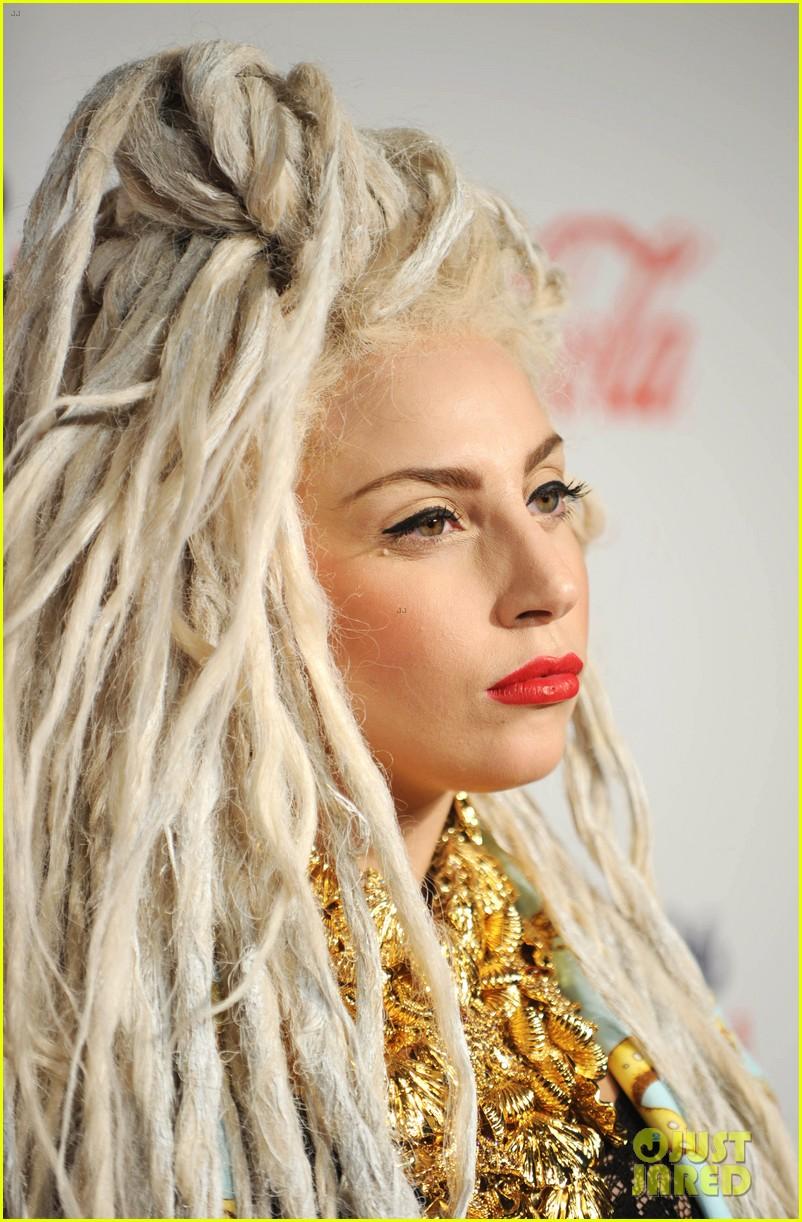 Lady Gaga Bleached Dreadlocks For Capital Fm Jingle Ball