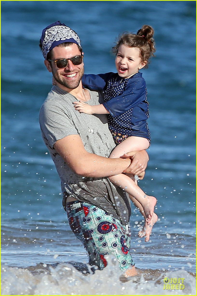 max greenfield shirtless vacation with bikini clad wife tess 25