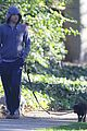 michael c hall low profile walk with pet pooch 08