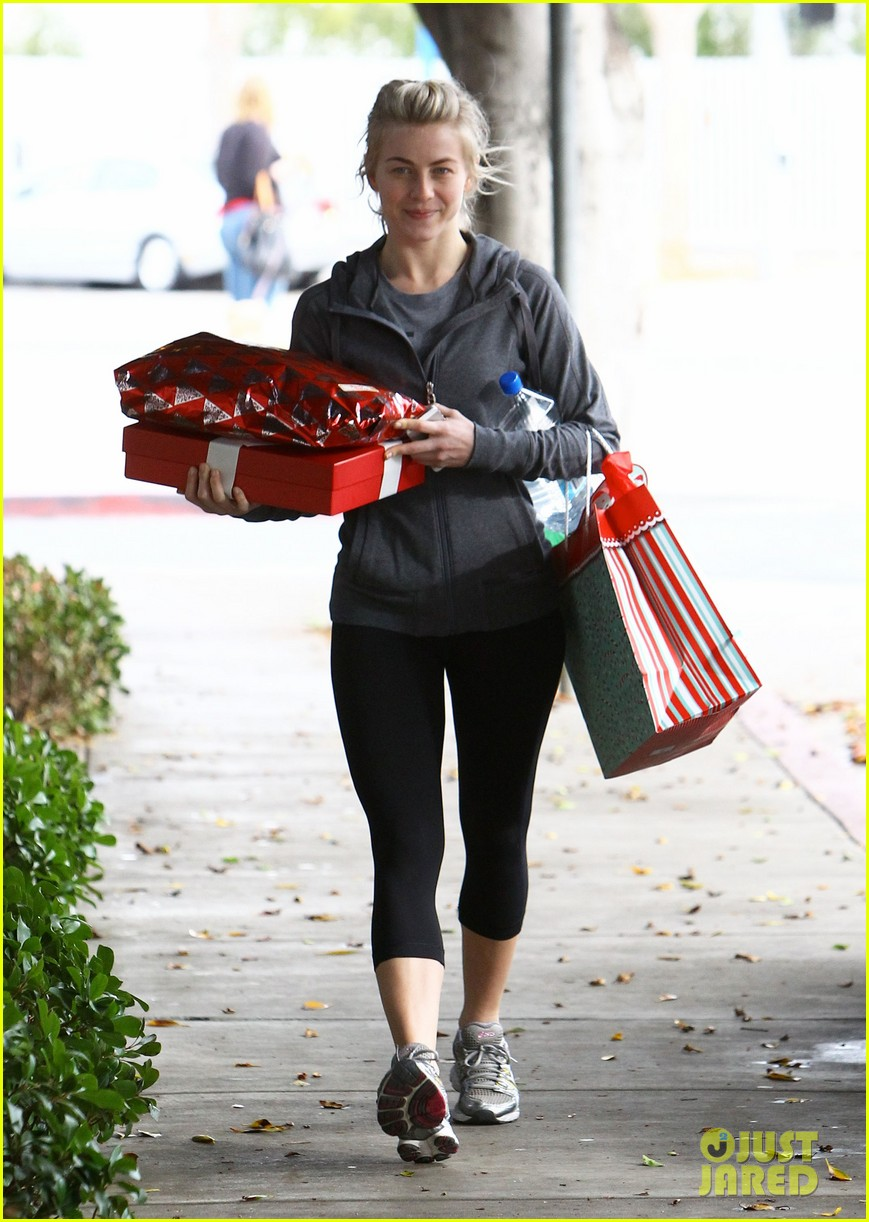 julianne hough is ready for christmas with armful of gifts 17