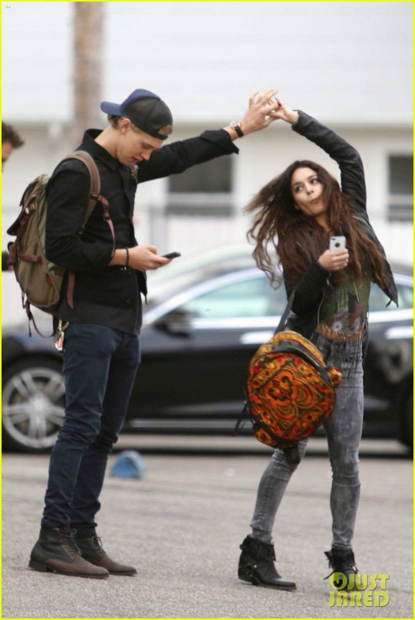 vanessa hudgens dance take silly selfies in a parking lot 03