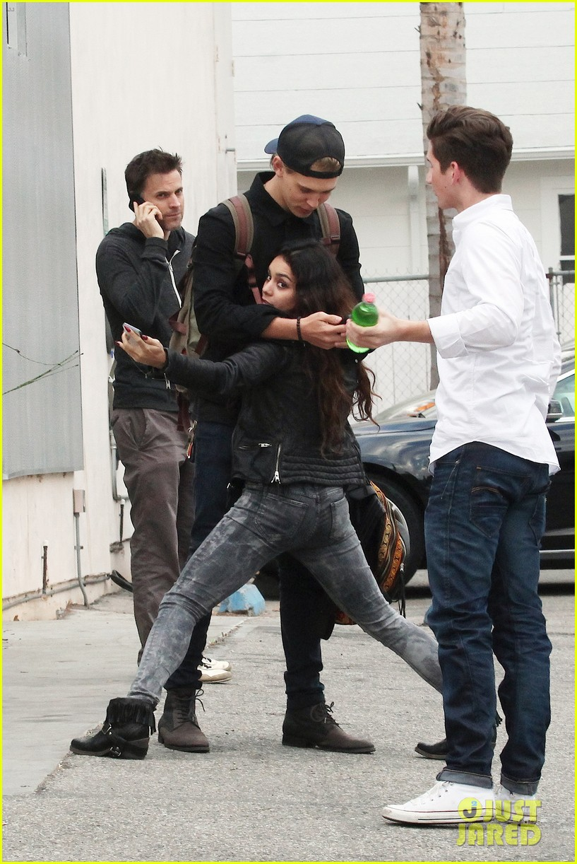 vanessa hudgens dance take silly selfies in a parking lot 273014668