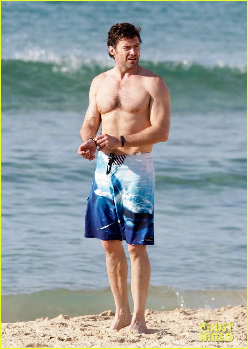 hugh jackman goes sexy shirtless after pan casting news 01