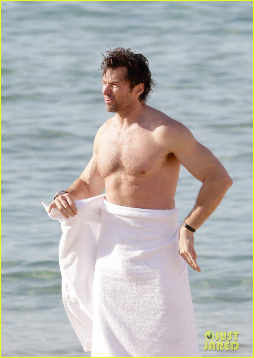 hugh jackman goes sexy shirtless after pan casting news 09