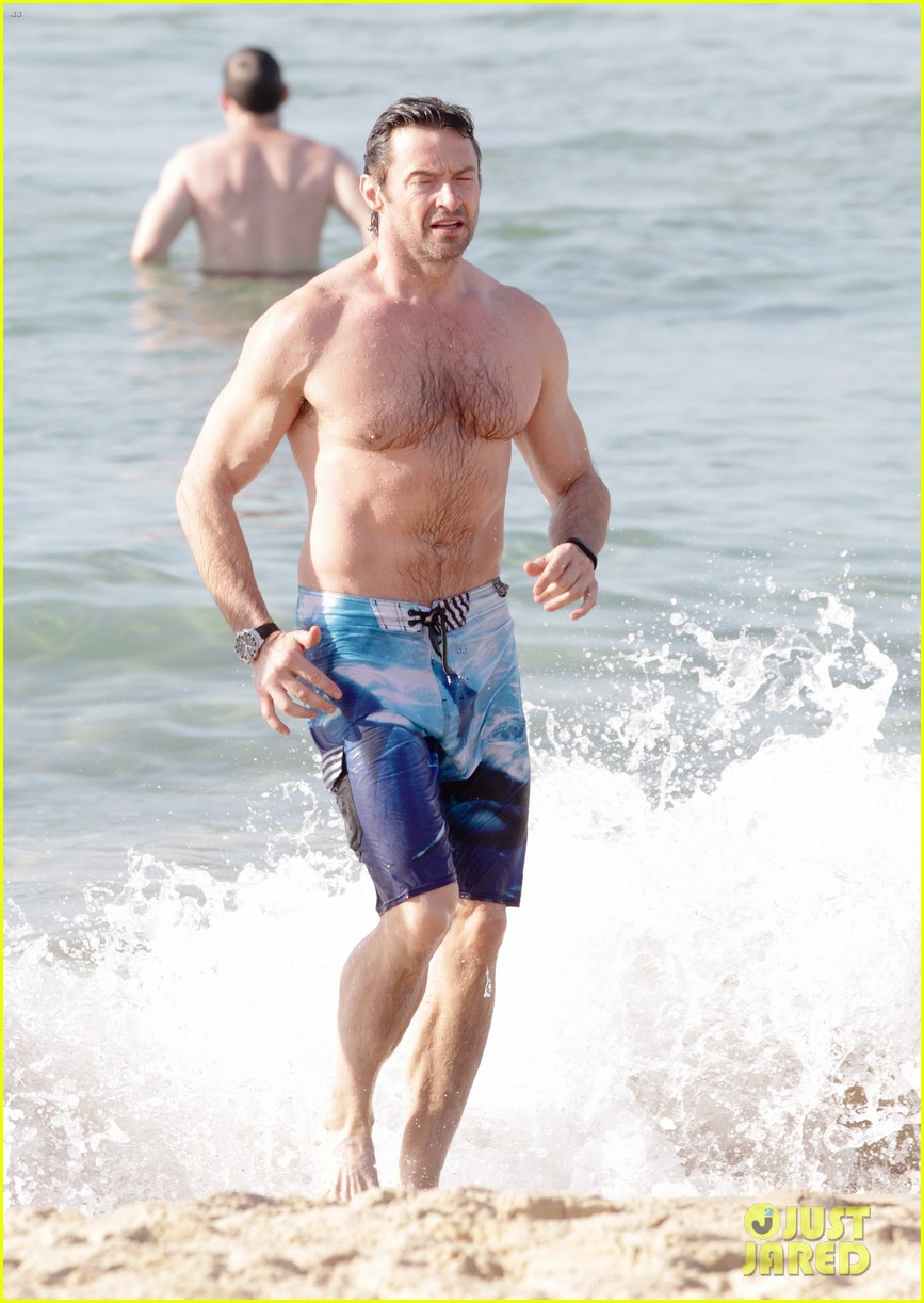 hugh jackman goes sexy shirtless after pan casting news 10