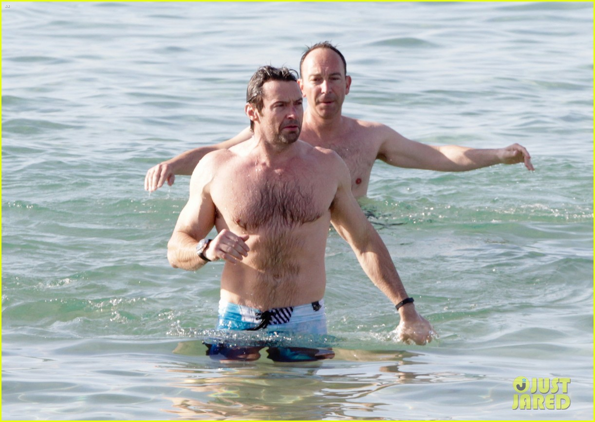 hugh jackman goes sexy shirtless after pan casting news 12