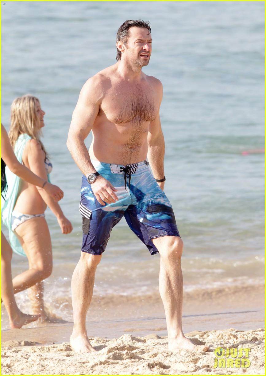 hugh jackman goes sexy shirtless after pan casting news 17