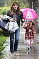 jennifer garner rainy day errands with seraphina 27