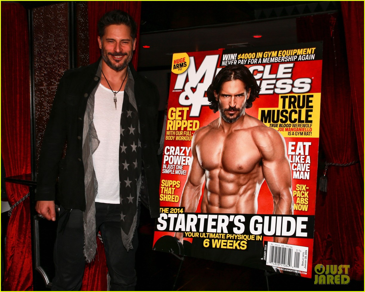 joe manganiello celebrates muscle fitness cover with arnold schwarzenegger 053014927