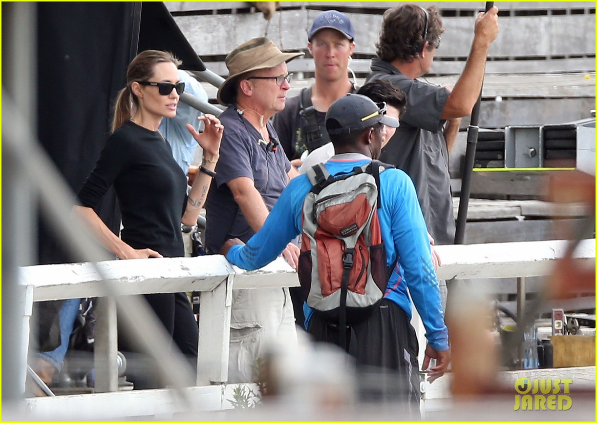 angelina jolie back to work for unbroken after family weekend 13