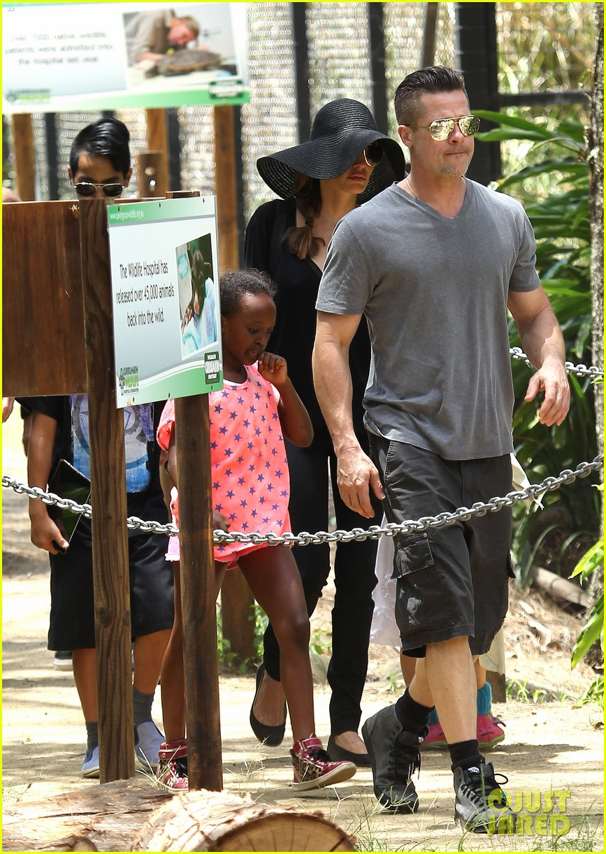 angelina jolie brad pitt visit the zoo with all six kids 02