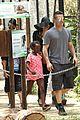 angelina jolie brad pitt visit the zoo with all six kids 13
