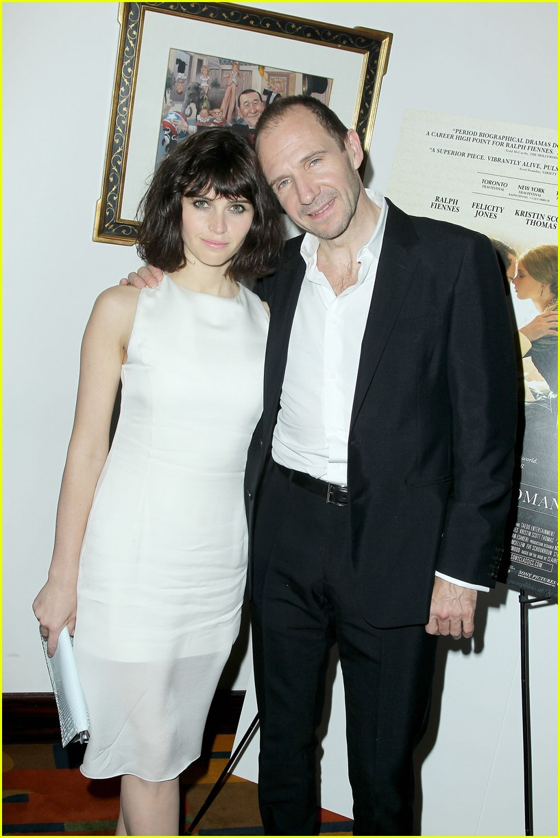 felicity jones ralph fiennes invisible woman nyc screening 18