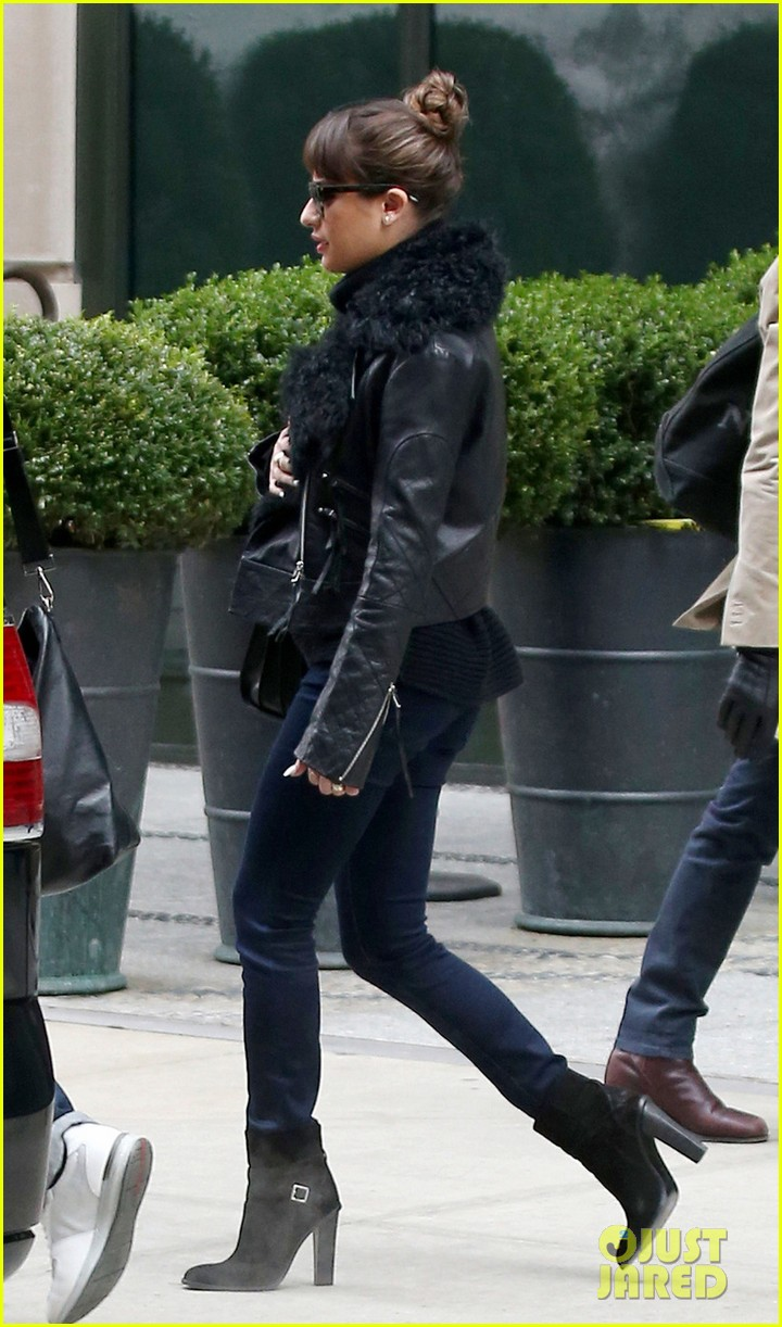 lea michele begins album promo work in nyc 033004216