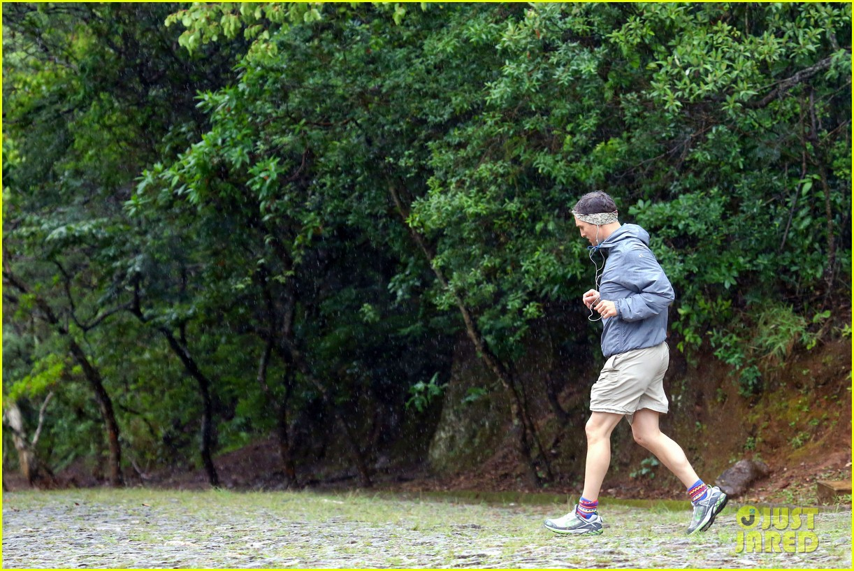 matthew mcconaughey braves the rain for a run in brazil 283018384