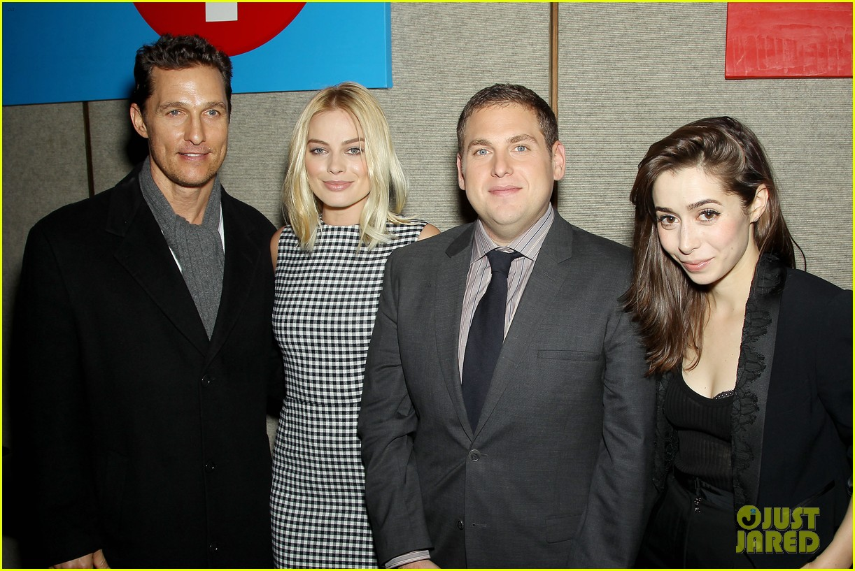 matthew mcconaughey wolf of wall street luncheon with margot robbie 27