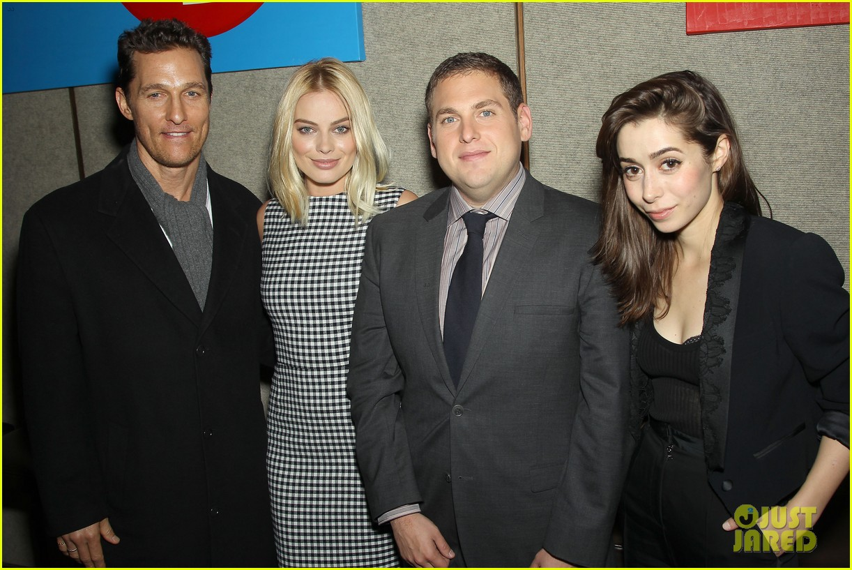 matthew mcconaughey wolf of wall street luncheon with margot robbie 28