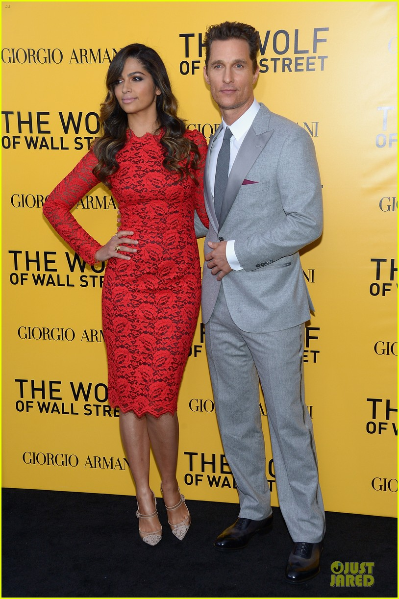 matthew mcconaughey camila alves wolf of wall street nyc premiere 10