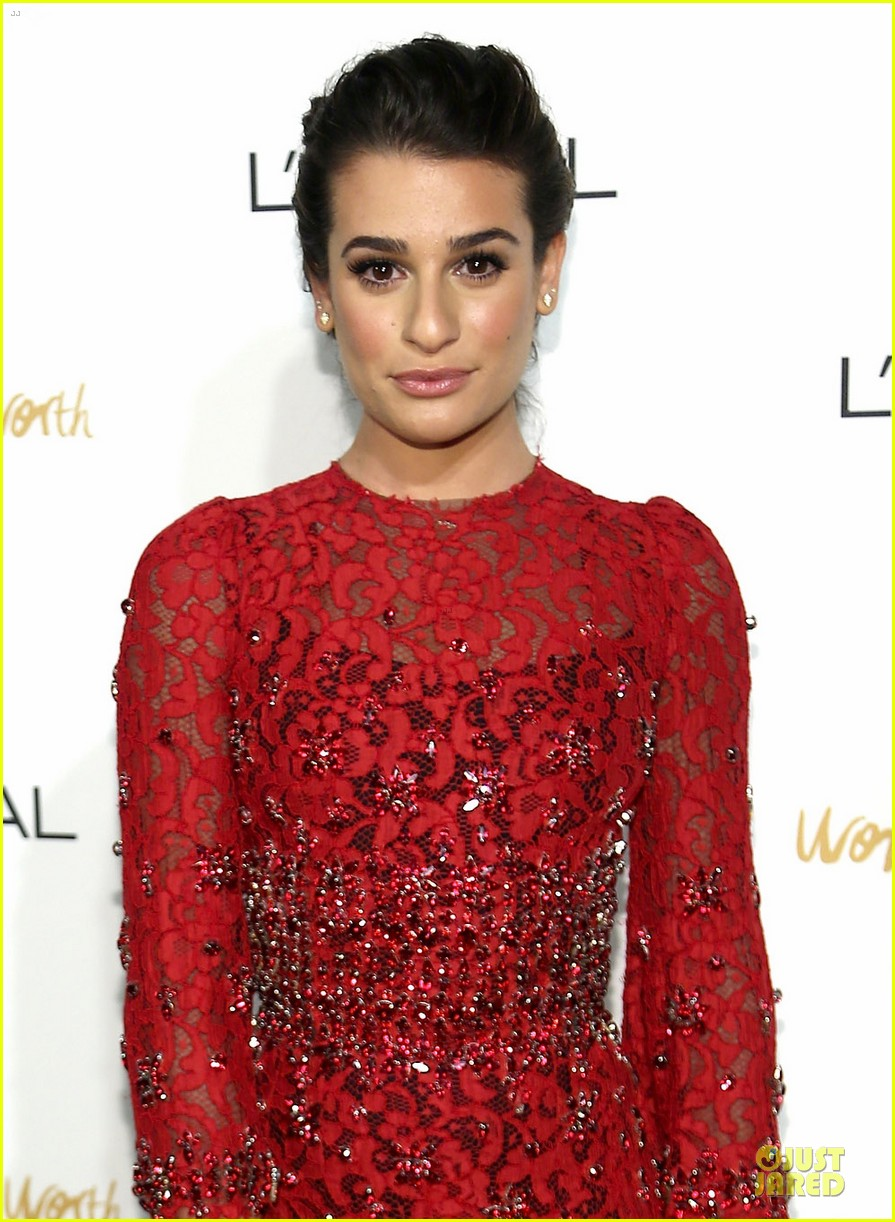 lea michele red hot at loreal paris women of worth 02
