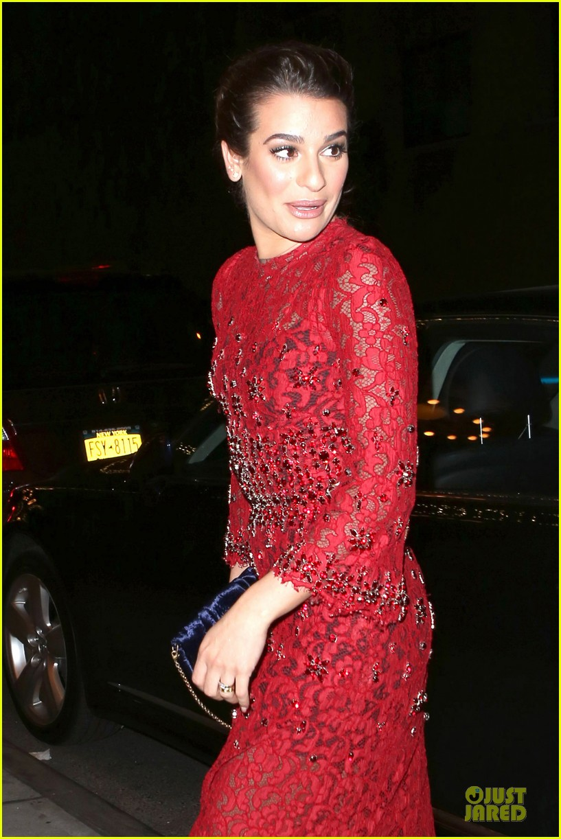 lea michele red hot at loreal paris women of worth 06