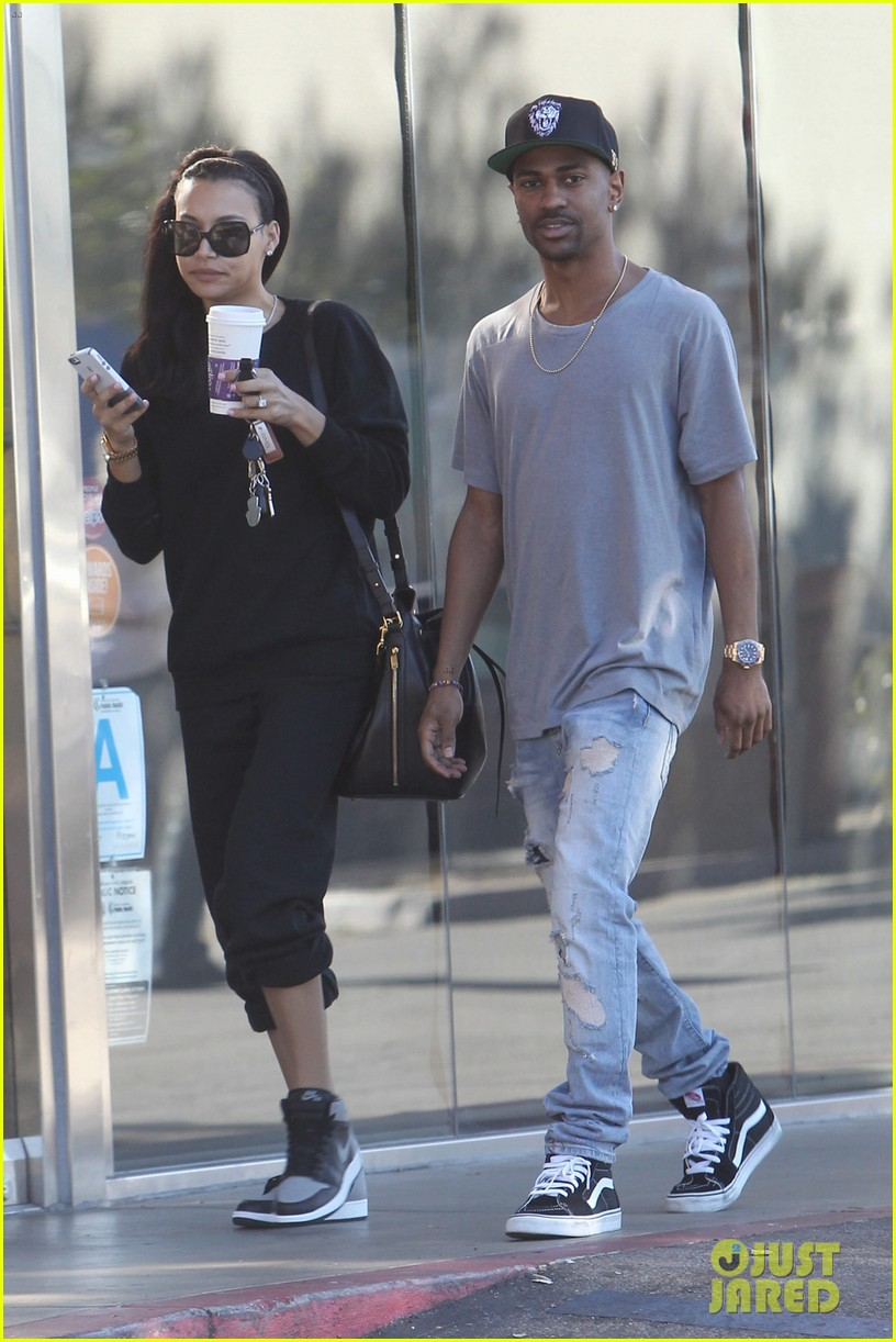 naya rivera big sean casual coffee couple 02