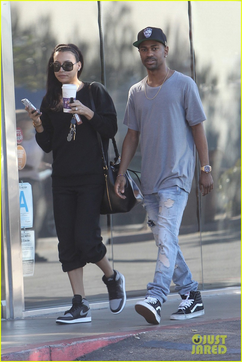 naya rivera big sean casual coffee couple 033019465