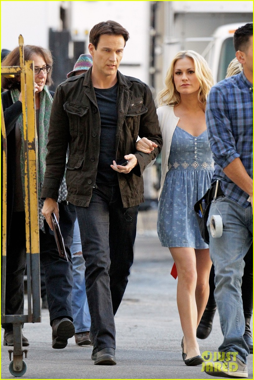 anna paquin stephen moyer commercial shoot couple 023010537