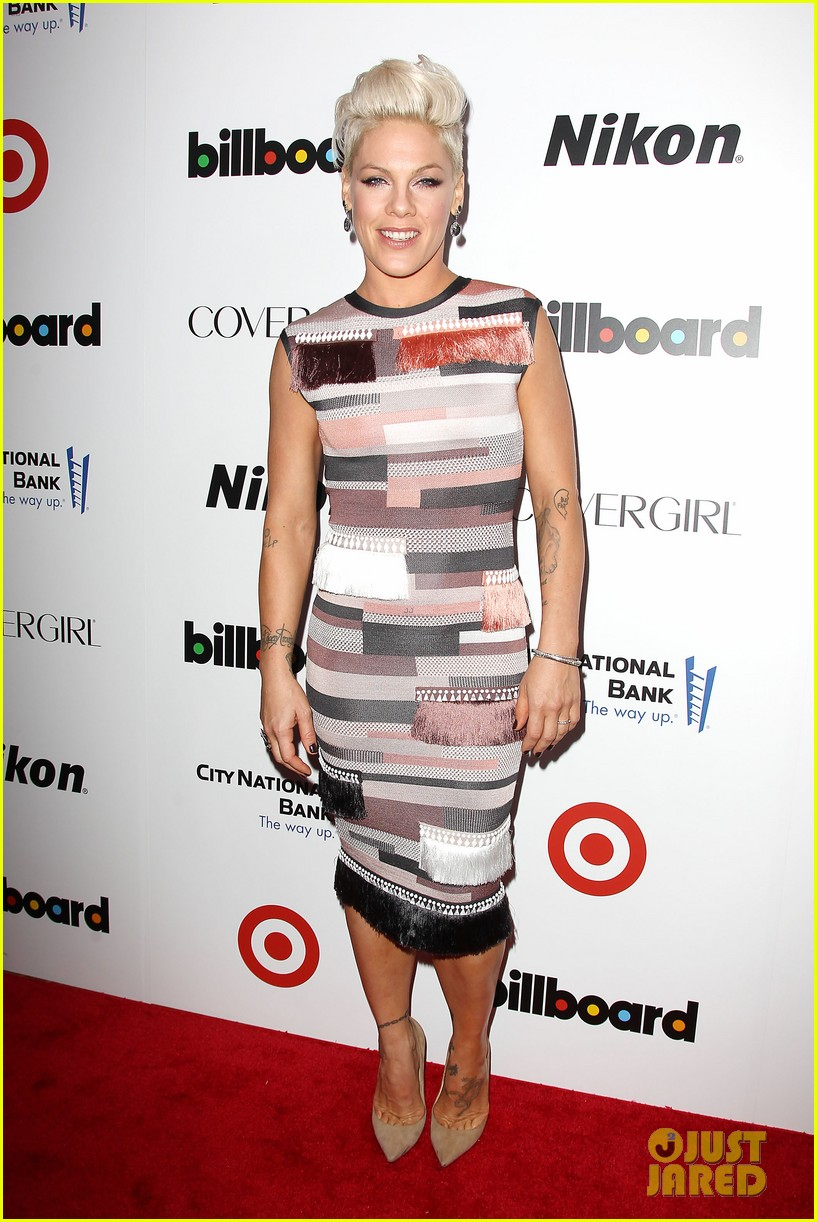 pink billboard women in music event with carey hart 033009178