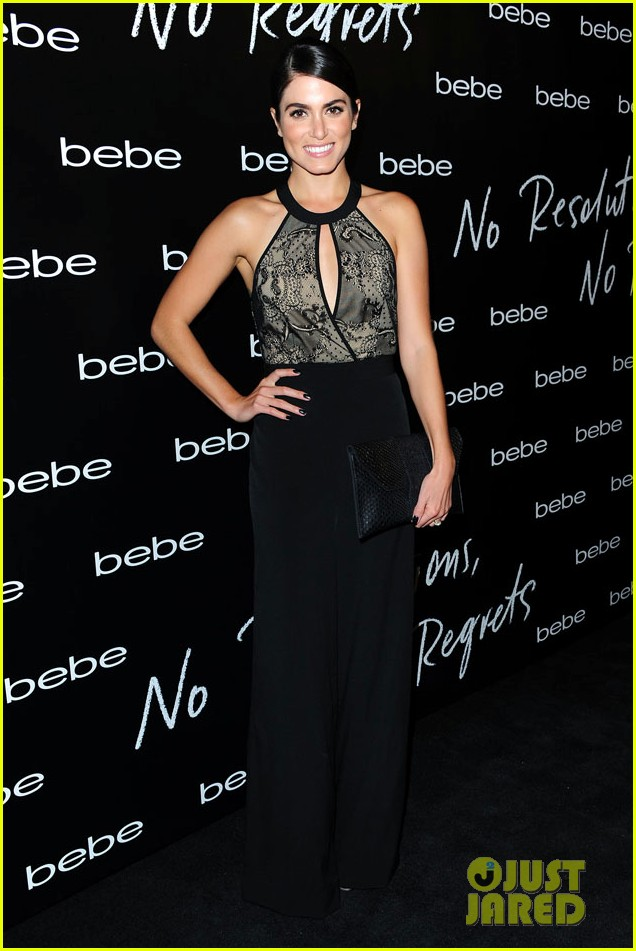nikki reed nina agdal bebe holiday party 09