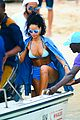 rihanna bikini beach babe for barbados christmas 04