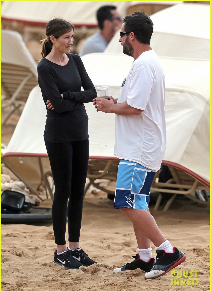 adam sandler spends relaxing beach day with wife jackie 08
