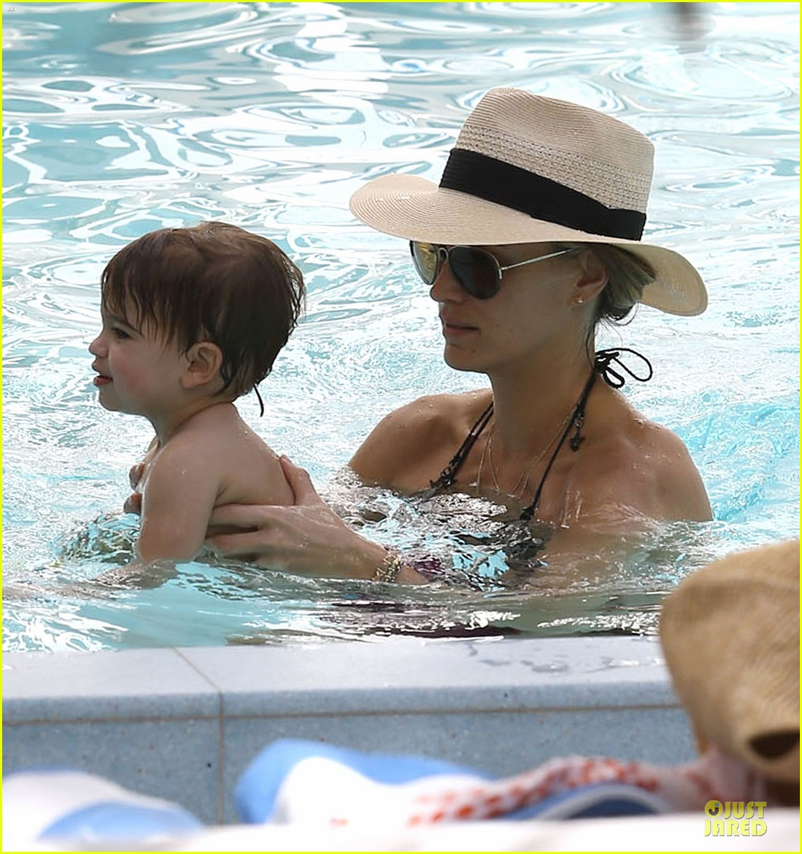 molly sims bikini relaxation with shirtless scott stuber 213017331