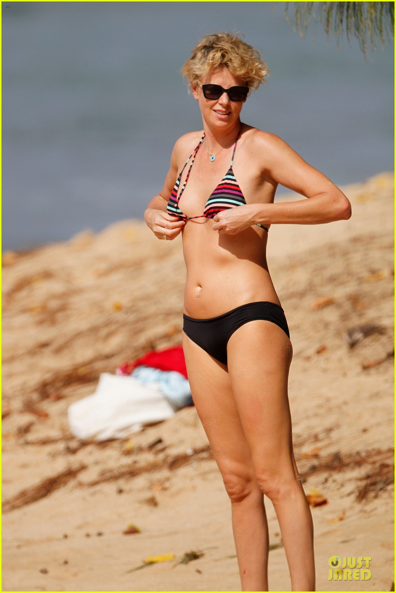 charlize theron colorful hawaiian bikini babe 053020229