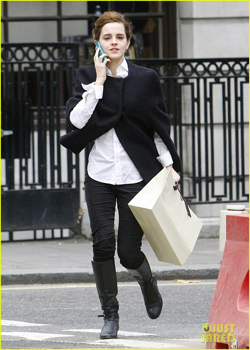 emma watson goes shopping at stella mccartney in london 013003390