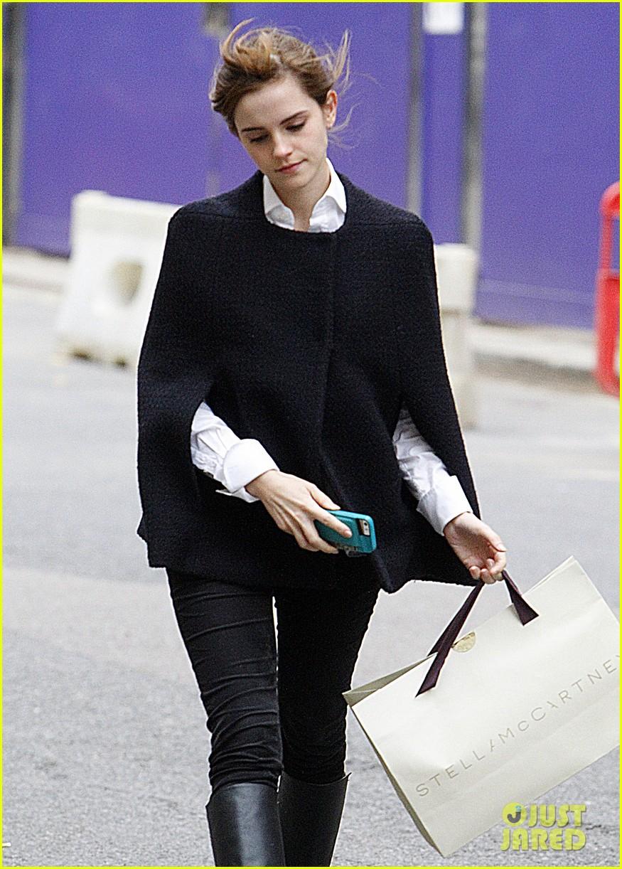 emma watson goes shopping at stella mccartney in london 06