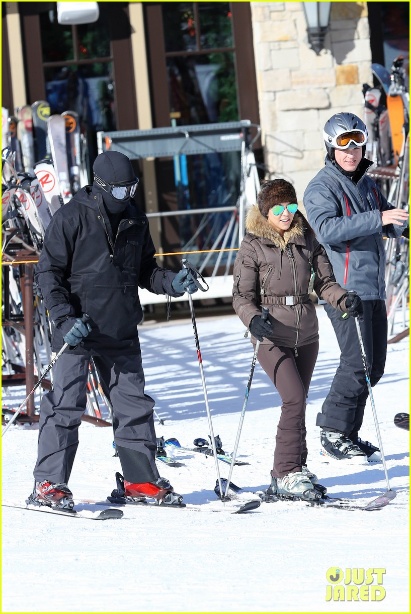 kanye west wears full face mask for skiing with kim kardashian 29