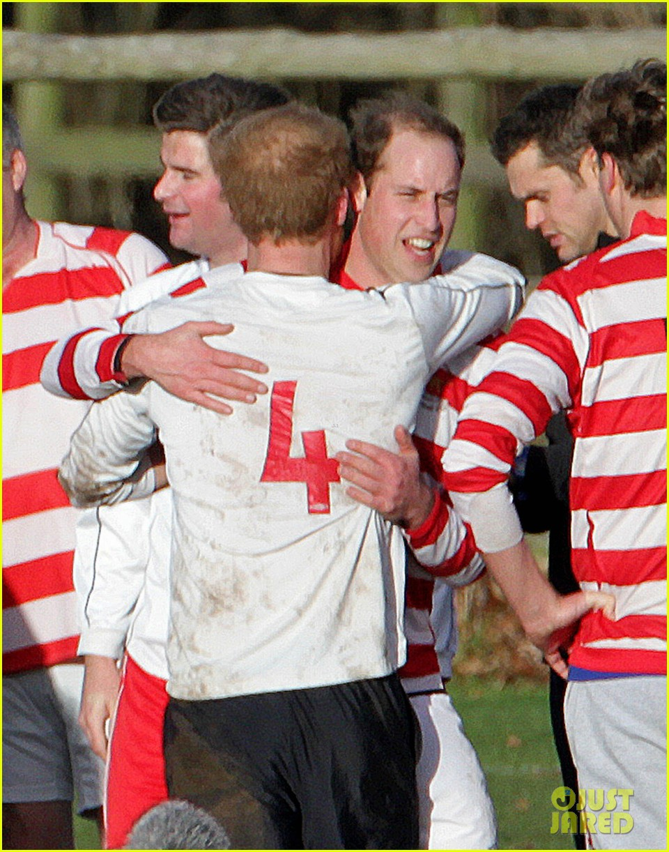 prince william prince harry hug after competitive soccer game 03